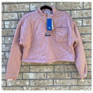 NWT Adidas Pink Cropped Sweater